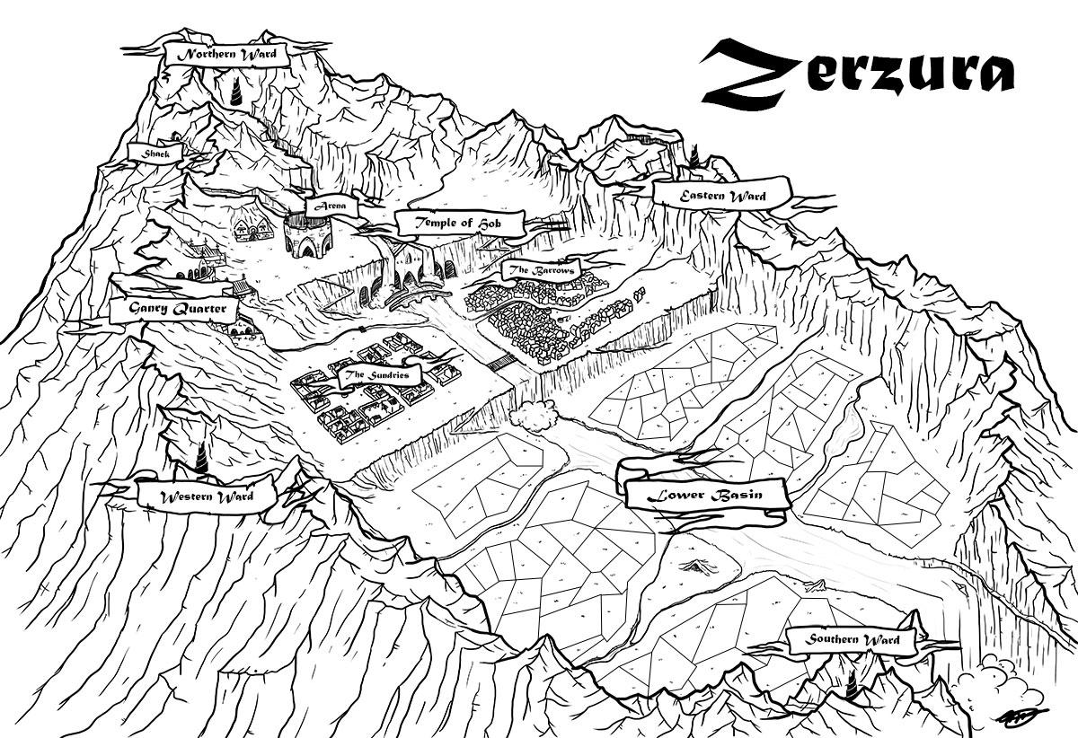 Zerzura Map